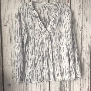 Boden Top size Us 4 sheer white and gray